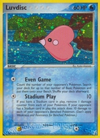 Pokemon Ex Crystal Guardians Luvdisc