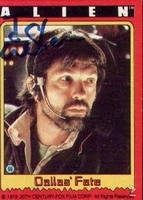 Alien gesigneerde trading card Captain Dallas