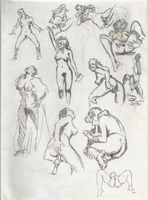 Original Erotic 1970's art by George Martin #07