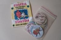 Kuifje complete set stickers en zakje Monty Gum