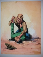 #1. Original Cover painting Western novel Winchester #28