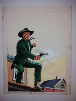 #3. Original Cover painting Western novel U.S. Marshal #273