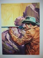 #5. Original Cover painting Western novel Rurales #159