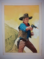 #6. Original Cover painting Western novel Rurales #265