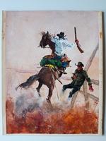 #04. Original Cover painting Western novel Cuatreros #97