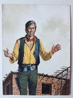 #06. Original Cover painting Western novel Rurales #186