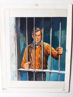 #10. Original Cover painting Western novel Cuatreros #36