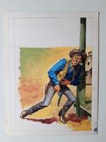 #13. Original Cover painting western novel Oeste #314