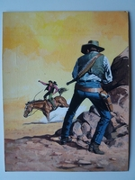#15. Original Cover painting Western novel Colt45 #205