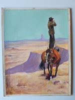 #16. Original Cover painting Western novel Oeste #130
