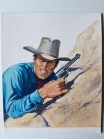 #17. Original Cover painting Western novel Colt45 #16