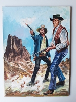 #19. Original Cover painting Western novel Oeste #264