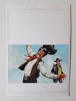 #21. Original Cover painting Western novel Caravana #33