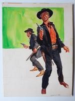 #22. Original Cover painting Western novel U.S.Marshal #298