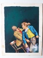 #23. Original Cover painting Western novel U.S.Marshal #350
