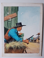 #24. Original Cover painting Western novel Colt45 #5