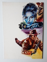 #27. Original Cover painting Western novel Colt #245