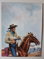 #32. Original Cover painting Western novel Oeste #305