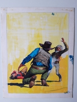#34. Original Cover painting Western novel Oeste #303