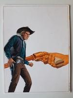 #35. Original Cover painting Western novel Oeste #177