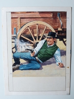 #36. Original Cover painting Western novel Oeste #300