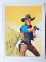 #38. Original Cover painting Western novel Oeste #615