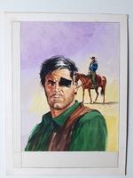 #39. Original Cover painting Western novel Cuatreros #104