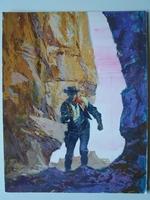 #40. Original Cover painting Western novel Caravana #215
