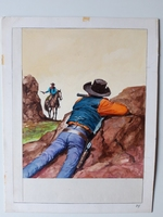 #42. Original Cover painting Western novel Rurales #289