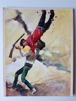 #47. Original Cover painting Western novel Extra Oeste #929
