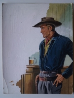 #50. Original Cover painting Western novel Colt45 #202