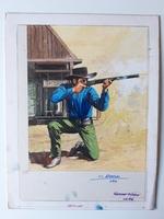#51. Original Cover painting Western novel Cuatreros #83