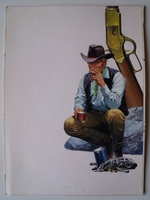 #55. Original Cover painting Western novel Oeste #56