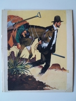 #56. Original Cover painting Western novel Rurales #65