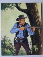 #57. Original Cover painting Western novel Colt45 #57