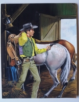 #58. Original Cover painting Western novel Oeste #318