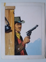 #59. Original Cover painting Western novel Caravana #218