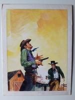 #60. Original Cover painting Western novel U.S. Marshal #46