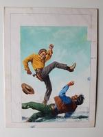 #61. Original Cover painting Western novel U.S.Marshal #382