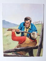 #62. Original Cover painting Western novel Oeste #593