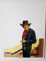 #63. Original Cover painting western novel Rurales #476