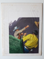 #67. Original Cover painting Western novel Caravana #70
