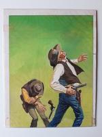 #68. Original Cover painting Western novel Cuatretros #105