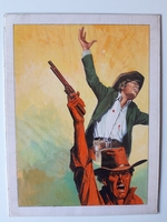 #69. Original Cover painting western novel Oeste #623