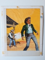 #70. Original Cover painting Western novel Cuatreros #52