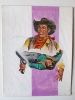 #73. Original Cover painting western novel Gringo #3