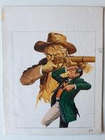 #75. Original Cover painting Western novel Caravana #19