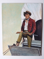 #81. Original Cover painting Western novel Caravana #45