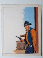 #82. Original Cover painting Western novel Rurales #299
