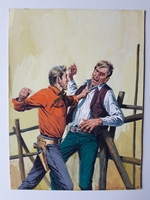 #83. Original Cover painting western novel Gran Canon #23
